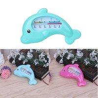 ingrosso termometro a temperatura del bambino-Acqua Termometro Baby Bathing Dolphin Shape Temperatura Infants Toddler Shower C2
