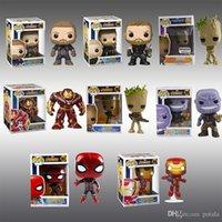 ingrosso figure di animazione-Spiderman Funko Pop 2 Modelli Marvel Avenger Ironman Hulk Action Figures Animazione Figurina Lepin Anime Kids Toy Brinquedo Scatole originali