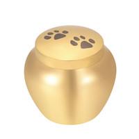 urnes de chien pour les cendres achat en gros de-Urnes funéraires en or pour cendres pour animaux de compagnie - Porte-cendres pour chien / patte de chat