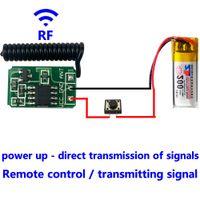 transmisor más pequeño al por mayor-RF 433 MHz Control remoto Micro Transmisor Módulo Mini pequeño 3.7 v 4.5 v 6 v 9 v 12 V Interruptor inalámbrico de energía de la batería accesorios