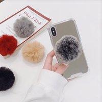Wholesale plush phone holders for sale - Group buy Plush Ball Mobile Phone Bracket Holder Autumn and Winter for Iphone XS Max Phone Holder For Iphone plus