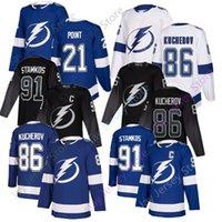 Wholesale johnson black jerseys for sale - Group buy 2019 Tampa Bay Lightning Jersey Third Black Steven Stamkos Nikita Kucherov Victor Hedman Brayden Point Tyler Johnson Blue White