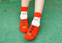 Wholesale pink christmas stockings resale online - Christmas Series Pattear Fashion Winter Warm Stockings Donna Casual Designer Mid Calf Hosiery Womens Sock With