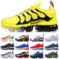 Wholesale blue lace sandals resale online - 2018 tn plus triple black running shoes tn sneaker best quality with box fashion man fashion luxury mens women designer sandals shoes