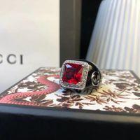 joyas gratis de piedra al por mayor-Anillo de lujo con piedra natural y diamante decorar sello logotipo encanto anillo joyería día de navidad regalo de la joyería de acción de gracias envío gratis