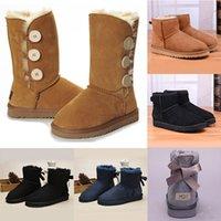 new slippers for winter 도매-저렴한 여성 겨울 부츠 패션 할인 발목 부츠 신발 많은 색상 2020 새로운 WGG 호주 클래식 눈 부츠면 슬리퍼