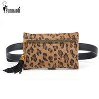 Wholesale waist bag patterns resale online - FUNMARDI New Tassel Design Belt Bag Women Fanny Pack Leopard Pattern Waist Bag For Women Chest Brand Mini Purse WLHB1831