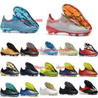 haut de football en plein air achat en gros de-2019 chaussures de soccer pour hommes x 19+ chaussures de football FG originales x 18 fg chaussures de football chaussures d'extérieur scarpe da calcio haute qualité Nemeziz