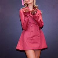 Wholesale double breasted womens jacket resale online - 2019 New Arrival Women Pink Blazers Long Sleeve Slime Fashion Sexy Jackets Coat Women Top Double Breasted Womens Blazers cost