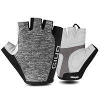 Wholesale fingerless bike gloves for sale - Group buy Cycling Gloves Half Finger MTB Road Gloves Fingerless Anti slip Bicycle Fishing Running proof Bike