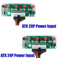 Wholesale usb port board for sale - Group buy ALLOYSEED ATX Pin Benchtop Board Computer PC Power Supply Breakout Module Adapter with USB V Port Hot