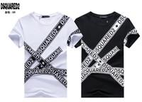 очки пингвинов оптовых-19ss DS2 логотип ICON печати италия дизайнер футболки мужские уличная одежда мужские шорты футболка топы шорты футболка одежда Dt1388