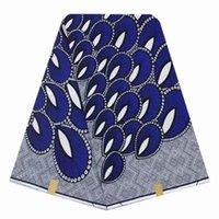 material de cera africano venda por atacado-Tecido africano tecido de impressão de cera real tecido bloco de cera para o casamento ancara tecidos vestuário material de 6 metros por peça