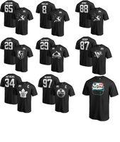 nhl hemden großhandel-2019 All Star-Spiel NHL T-Shirt San Jose Sharks Karlsson brennt Pavelski Matthews Fleury Crosby McDavid MacKinnon Namensnummer-Shirt