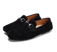sapatos de calção suave para homens venda por atacado-Luxo tamanho grande, sapatos casuais de couro dos homens, marca de moda de fundo macio sapatos de casamento casuais, mens mocassins, mens designer sapatos G2.65