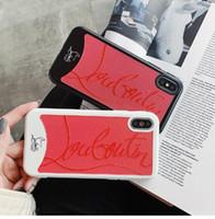 capas iphone macio abrange venda por atacado-Sapatilhas de marca de moda designer capa case para iphone 6 plus 7 7 plus 8 8 plus X XR XS Max Maré Inferior de Luxo Soft Silicone couqe