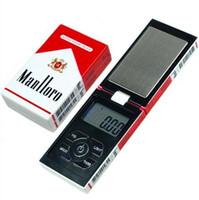 escalas de envío al por mayor-100 g x 0.01 g Báscula digital de peso balanza de bolsillo Básculas de joyería 0.01 gramo de caja de cigarrillo escalas Envío gratis DHL