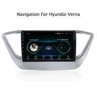 tv remota mão venda por atacado-9 polegadas Android 8.1 Car GPS Multimídia de Navegação Estéreo para Hyundai Verna Solaris 2017 2018