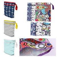 moda bebek bezleri toptan satış-moda Bebek Nappy Çantası Protable Su geçirmez Yeniden Yıkanabilir Fermuar Bezi Çanta Kat Bebek çantası Homeware T2G5054