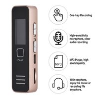 Wholesale secret recorders for sale - Group buy Mini Digital Voice Recorder Dictaphone Pen Audio Sound Recording USB Long Time Professional Secret Lecture Record with MP3 Play