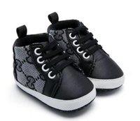bebek çocuk karyolası ayakkabıları toptan satış-Yeni Moda Sneakers Yenidoğan Bebek Beşik Ayakkabı Erkek Kız Bebek Yürüyor Yumuşak Sole İlk Walkers Bebek Ayakkabı