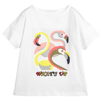 Wholesale preppy clothing patterns resale online - Various Styles Kids Designer Clothes for Girls Tshirts Summer Hot Sale Girls Short Sleeve Shirt Rainbow Pattern Cute Tops Tee T
