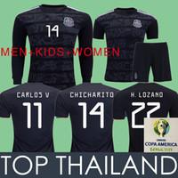 612c3ba482821 GOLD CUP Mexico Soccer Jersey Football Shirts 2019 COPA DE ORO Camisetas de  fútbol de México Camisa de fútbol LOZANO CHICHARITO 19 20 Negro Mujeres  Niños ...