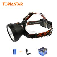 Wholesale miner lights for sale - Group buy TOPIA STAR High Power Head Lanterns Rechargeable Cree Xml T6 LM Miners Light Led Headlamp