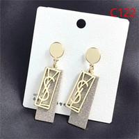ingrosso orecchini del bracciale-nuovi orecchini pendenti di alta qualità firmati orecchini e carte in ottone con diamanti e perla Lampadario pendente Senza scatola