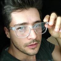 pc okuma lensleri toptan satış-2019 Retro erkek Şeffaf Gözlük Şeffaf Lensler Pc Komotuto Kare Okuma Kadınlar Için Gözlük Çerçeveleri Gözlük Erkek Gözlük