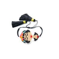 joyería de la borla mexicana al por mayor-Pulseras mexicanas de Frida Kahlo Saludo Pulseras de cuentas hechas a mano Pulseras de arrogancia de dibujos animados Pulseras de borla para niña Joyas hechas a mano