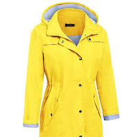 ciré jaune achat en gros de-Raincoat Outdoor long Salopette imperméable Femmes Raincoat Manteau pluie jaune imperméable Mujer Para Lluvia Couverture Imperméables 3DYYJ01 T200117