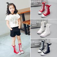 boş zaman bebek ayakkabıları toptan satış-Çocuklar ayakkabı bebek tuval Sneakers Nefes Eğlence tasarımcı ayakkabı çocuk erkek kız Yüksek top Ayakkabı B11