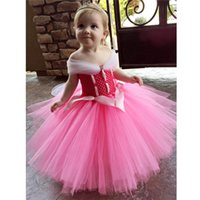 Wholesale girls dress ballgown for sale - Group buy Snow White Inspired Girl Tutu Dress Off the Shoulder Ballgown Little Girl Halloween Party Cosplay Gowns Pink Blue Yellow In Stock