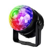 iluminação palco lanterna venda por atacado-Alto-falante Bluetooth Luz Do Estágio 9 Cor Noite Luz USB Mini Cristal Magic Ball Quarto KTV Lanterna - R29