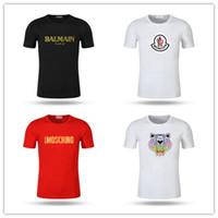 shorts amarelos mens venda por atacado-Bálsamo moschinos kenz Moncl Mens T Camisas Designer Preto Branco Vermelho Amarelo Mens Moda Casual Roupas Designer de Camisetas Top de Manga Curta