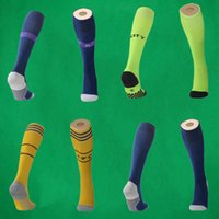 Wholesale quality hose for sale - Group buy 2019 ARS home football socks Manchester Knee High stocking thai quality Thicken Towel Bottom sports long hoses United Adult sport socks
