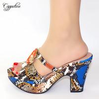 Variopinti stupefacenti scarpe stampa di alta africana tacco pistone con moda donna 245 3 Altezza tacco 10,5 centimetri