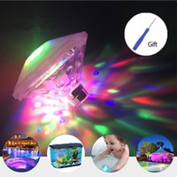 Wholesale tub baby online - Submersible Led Lights Floating LED Lights Waterproof Lighting Modes Swimming Pool Lights for Baby Bath Tub Pond Aquarium Party Decoration