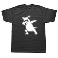 jack dogs venda por atacado-Engraçado Dabbing Jack Russell Terrier Camisa Do Cão Novidade dos homens Camisetas de Manga Curta de Algodão O-pescoço T-Shirt