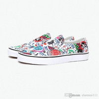 Wholesale limited edition rubber shoes for men resale online - VAN CLASSIC SLIP ON VThe Nightmare Before Christmas Sneaker For Unisex Limited edition skateboarding shoes for men and women