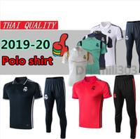 Wholesale polo football online - 2019 Real Madrid Short sleeve polo shirt soccer training suit RONALDO MODRIC BALE MARCELO ASENSIO ISCO football shirt kit tracksuit