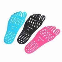 клеи для обуви оптовых-Новые Наклейка Обувь Stick on Soles Накладки для ног Пляжный носок водонепроницаемый Гипоаллергенный клейкая накладка для FeetNew # 146583
