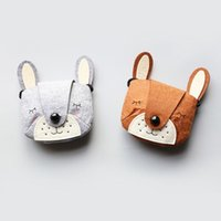 sacos de tecido bonito meninas venda por atacado-Saco de ombro dos desenhos animados animais urso bonito do bebê mini meninas do jardim de infância moeda messenger satchel não-tecido sacos de tecido