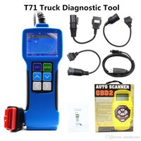 Wholesale heavy truck scanners for sale - Group buy Truck Diagnostic Tool T71 Heavy Duty Code Reader Universal Diesel Heavy Bus Diagnostic Scanner Update Online