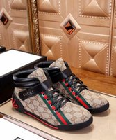 nouvelles chaussures design masculin achat en gros de-Casual chaussures de toile des hommes de la mode New Sneakers chaussures hommes hauts hauts bottes homme conception chaussures de luxe G95