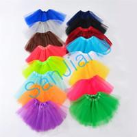 Wholesale baby girl bubble shorts for sale - Group buy INS Baby Girls Tutu Dress Candy Rainbow Color Kids Party Mesh Skirts Dance Dresses Tutus Summer Bubble Gauze Ballet Short Skirt T E3609