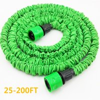 Wholesale expandable flexible garden water hose resale online - Magic flexible hose expandable FT FT Garden water hose reels watering water for watering without sprayer