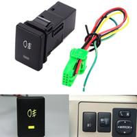tampas de interruptor 12v venda por atacado-Botão da luz de névoa do interruptor de Foglight do fio de DC12V 4 para a expedição rápida de Toyota