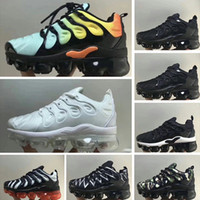 packs de zoom achat en gros de-Nike 2018 TN Air Plus 2018 New Plus VM Noir / Blanc / Enfant Chaussures Baskets Ensemble de trois chaussures pour enfant Air Ultra TN pour Enfant Triple Ultra